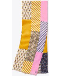 Tory Burch - Patchwork Printed Oblong Scarf - Lyst