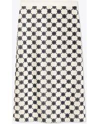 Tory Burch - Logo Lace Pencil Skirt - Lyst
