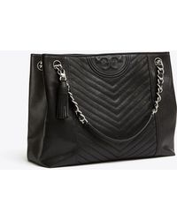 Tory Burch - Fleming Distressed Tote - Lyst