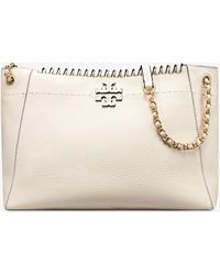Tory Burch - Mcgraw Whipstitch Chain Shoulder Slouchy Tote - Lyst