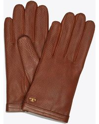 Tory Burch - Perforated Leather Gloves - Lyst
