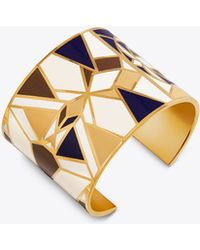 Tory Burch - Kaleidoscope Enamelled Statement Cuff - Lyst