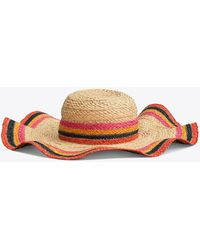 Tory Burch - Striped Straw Hat - Lyst