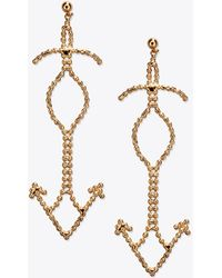 Tory Burch - Beaded Fish Statement Earring - Lyst