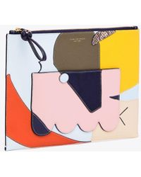 Tory Burch - Inside The Box Top-zip Pouch   116   Pouches - Lyst
