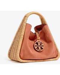 c5f60320b694 Lyst - Tory Burch Robinson Triangle Tote in Brown