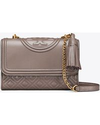 7a785ad1d2d69 Tory Burch - Fleming Small Convertible Shoulder Bag - Lyst