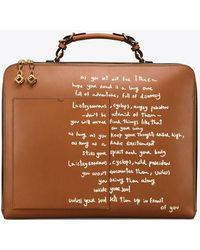 Tory Burch - Arthur Script Large Briefcase - Lyst