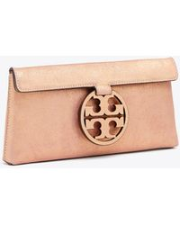 Tory Burch - Miller Metallic Clutch - Lyst