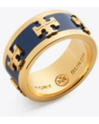 Tory Burch - Enamelled Logo Ring - Lyst