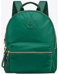 Tory Burch - Tilda Nylon Zip Backpack (tory Navy) Backpack Bags - Lyst