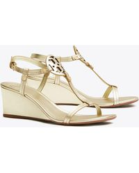 ac1763cd134 Tory Burch - Miller T Strap Wedge Sandals - Lyst