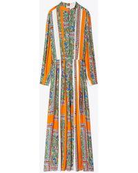Tory Burch - Printed Midi Dress - Lyst