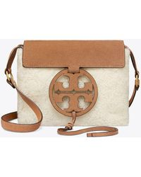 34e7ba3dbca Tory Burch Sawyer Suede Shoulder Bag in Blue - Lyst
