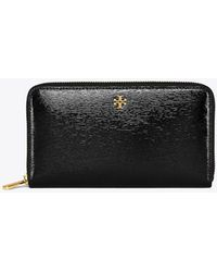 Tory Burch - Robinson Patent Zip Continental Wallet - Lyst