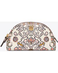 Tory Burch - Hicks Garden Small Makeup Bag - Lyst