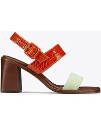Tory Burch - Delaney Color-block Sandal - Lyst