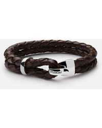 Miansai | Beacon Braided Leather Bracelet, Sterling-silver | Lyst