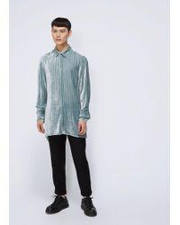 Ann Demeulemeester - Harlot Brusehed Velvet Shirt - Lyst