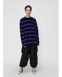 Needles - Long Sleeve Narrow Velour Stripe Tee - Lyst