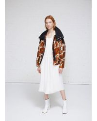 Ms Min - Hooded Bomber Jacket - Lyst