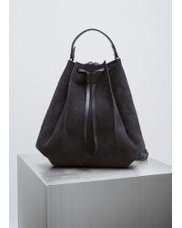Maison Margiela - Dark Blue Nabuk Backpack - Lyst