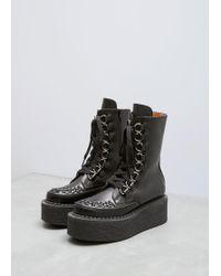 Junya Watanabe - Black Platform Laceup Ankle Boot - Lyst