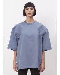 Vetements - Blue + Print Football Shoulder T-shirt Are We Having Fun Yet? - Lyst