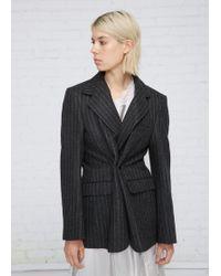 Vetements | Grey Pinstripe Jacket | Lyst