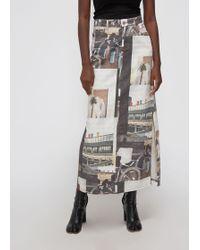 Ganni - Long Printed Skirt - Lyst
