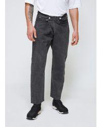 Sasquatchfabrix - Black Tapered Denim Jeans - Lyst