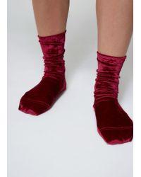 Darner - Crushed Velvet Socks - Lyst