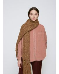Rachel Comey - Taupe Pyramid Knit Scarf - Lyst