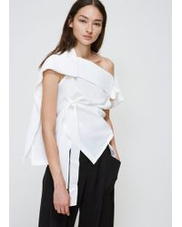 132 5. Issey Miyake - Tie Front Top - Lyst
