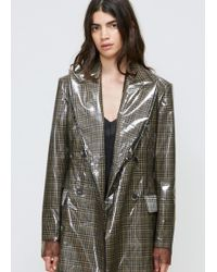CALVIN KLEIN 205W39NYC - Clear Overlay Double Breasted Coat - Lyst