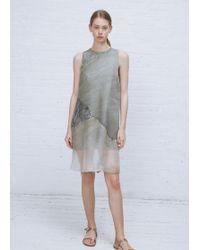 Kaarem - Moon A-line Printed Organza Silk Dress - Lyst