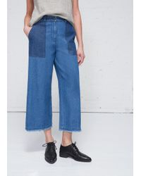 Raquel Allegra - High Waisted Crop Pant - Lyst