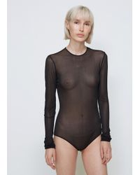 Maison Margiela - Long Sleeve Bodysuit - Lyst