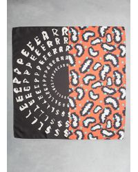 Henrik Vibskov - Fluid Mixed Print Square Scarf. Finished Edges. Dry Clean. 100% Viscose. Imported. - Lyst