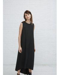 Kaarem - Black Turn Sleeveless Overlap Maxi Dress - Lyst