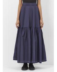 Xiao Li - Navy Long Ruffle Skirt - Lyst