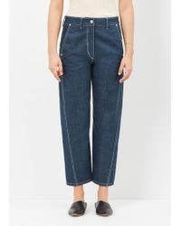 Lemaire - Jade Blue Twisted Pant - Lyst