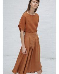 Black Crane | Rust Wrap Skirt | Lyst