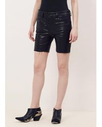 Haider Ackermann - Black Skinny Leather Shorts - Lyst