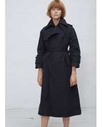 Facetasm - Navy Paper Touch Trench Coat - Lyst