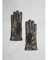 Lanvin - Black Leather Glove - Lyst
