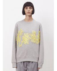 Acne Studios - Grey Melange Carly Flame Sweatshirt - Lyst