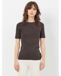 Lauren Manoogian - Carbon Cashmere Rib Tee - Lyst