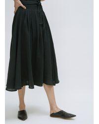 Black Crane - Black Wrap Skirt - Lyst