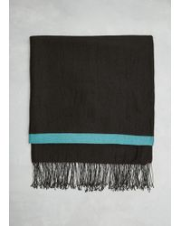 Issey Miyake - Redxtq Green Lined Cashmere Stole - Lyst